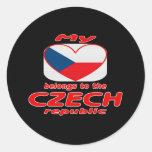 My heart belongs to the Czech republic Classic Round Sticker