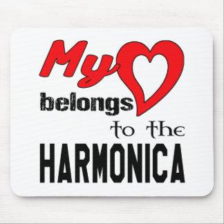 My heart belongs to the harmonica. mouse pad