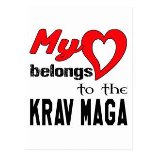 My heart belongs to the Krav Maga. Postcard