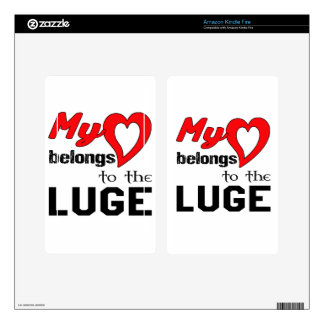 My heart belongs to the Luge. Kindle Fire Decals