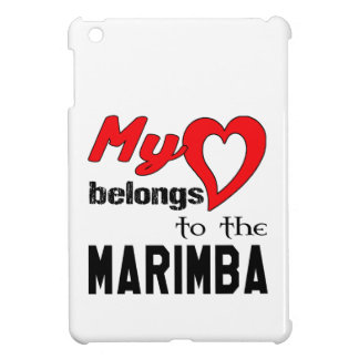 My heart belongs to the Marimba. iPad Mini Covers