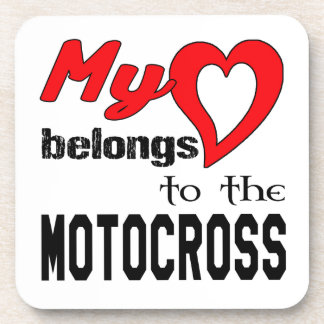 My heart belongs to the Motocross Beverage Coasters