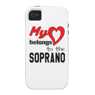 My heart belongs to the Soprano. Vibe iPhone 4 Case