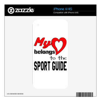 My heart belongs to the Sport Guide iPhone 4 Skins