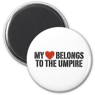 My Heart Belongs To The Umpire Refrigerator Magnet