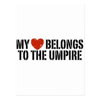 My Heart Belongs To The Umpire Postcard