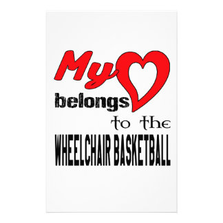 My heart belongs to the Wheelchair basketball. Stationery