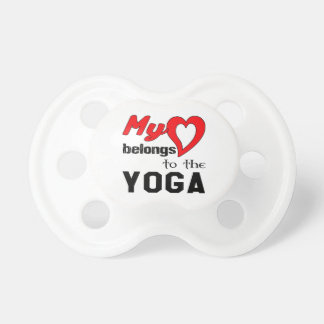 My heart belongs to the Yoga. BooginHead Pacifier