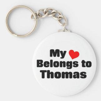 My heart belongs to Thomas Keychain