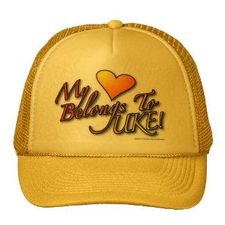 My Heart Belongs to UKE Designer Cap Trucker Hat