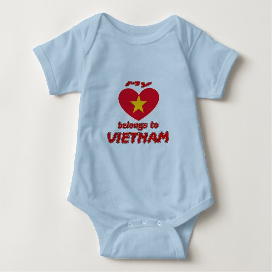 My heart belongs to Vietnam Baby Bodysuit