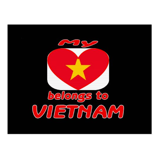 My heart belongs to Vietnam Postcard