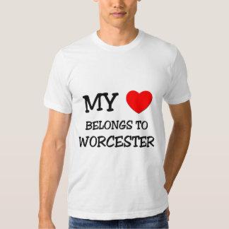 My heart belongs to WORCESTER T-shirt