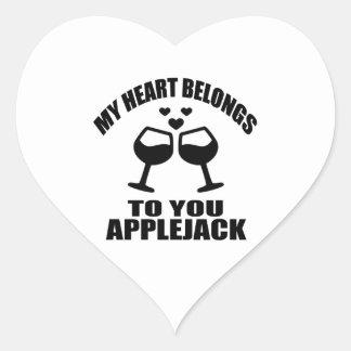MY HEART BELONGS TO YOU APPLEJACK HEART STICKER