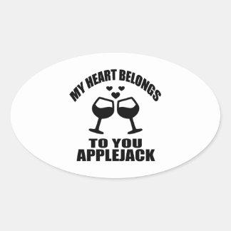 MY HEART BELONGS TO YOU APPLEJACK OVAL STICKER
