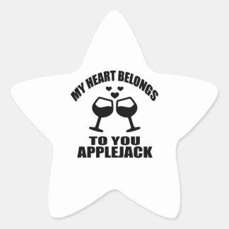MY HEART BELONGS TO YOU APPLEJACK STAR STICKER
