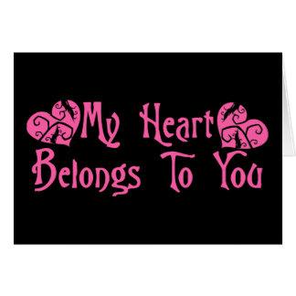 My Heart Belongs To You Cards