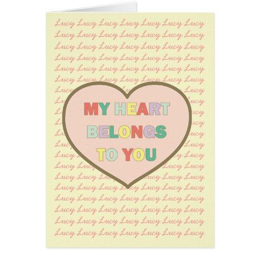 My Heart Belongs To You Greeting Card