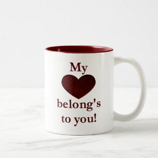My heart belongs to you mugs