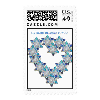 """""""My Heart Belongs to You"""" Postage Stamp"""