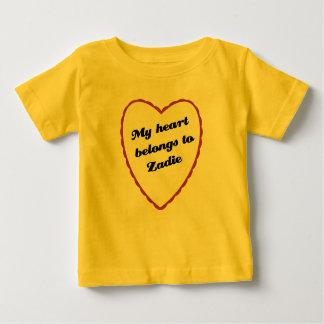 My Heart Belongs to Zadie Baby T-Shirt