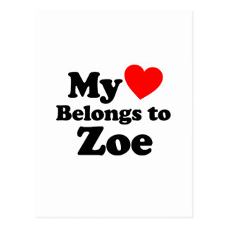My Heart Belongs to Zoe Postcard