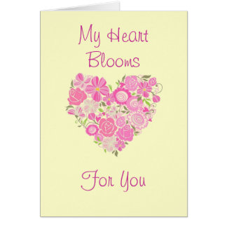My Heart Blooms Card