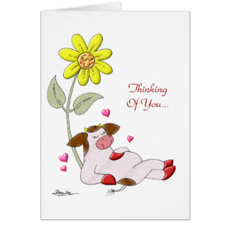 My Heart Blooms With Love Greeting Card