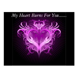My Heart Burns Postcard