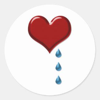 My Heart Cries Valentine's Stickers