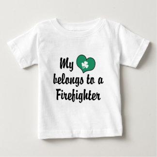 My Heart Firefighter Baby T-Shirt