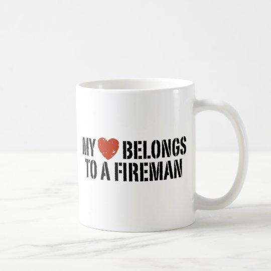 My Heart Fireman Coffee Mug