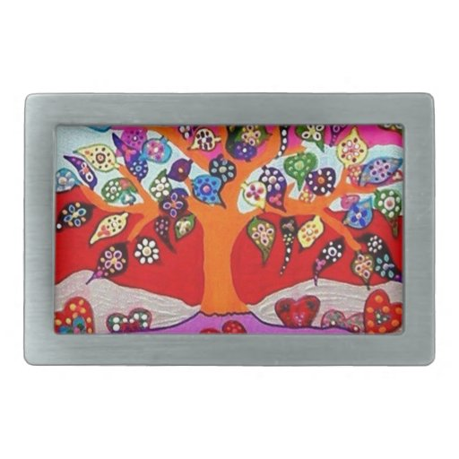 My Heart Flowers For You Tree Of Life Belt Buckles