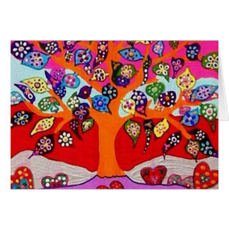 My Heart Flowers For You Tree Of Life Greeting Card