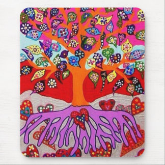 My Heart Flowers For You Tree Of Life Mouse Pad