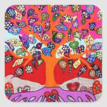 My Heart Flowers For You Tree Of Life Stickers