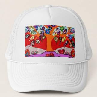 My Heart Flowers For You Tree Of Life Trucker Hat