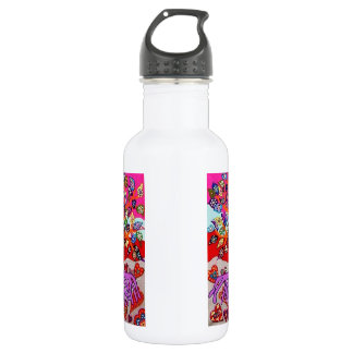 My Heart Flowers For You Tree Of Life Water Bottle