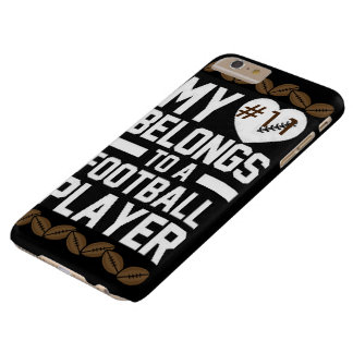 """""""My Heart/Football Player"""" IPHONE 6 PLUS CASE"""