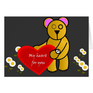 My heart for you card