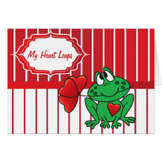 My Heart Frog Leaps Greeting Card