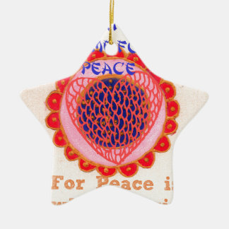 My Heart Goes Home for Peace.png Double-Sided Star Ceramic Christmas Ornament