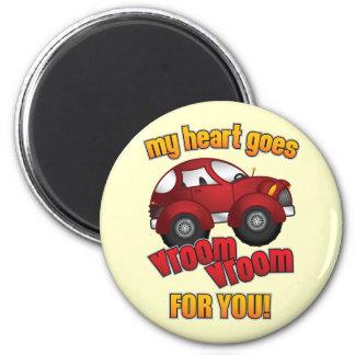 My Heart Goes Vroom Vroom For You! Fridge Magnet