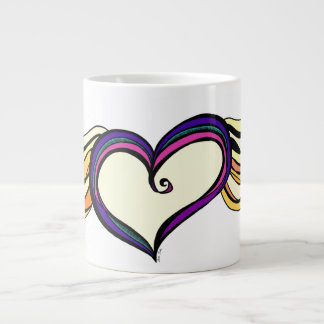 My Heart Has Wings Jumbo Mug 20 Oz Large Ceramic Coffee Mug