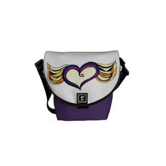 My Heart Has Wings Mini Messenger Bag