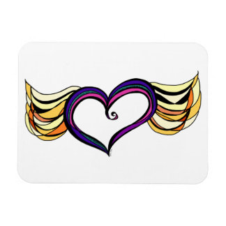 My Heart Has Wings Photo Magnet