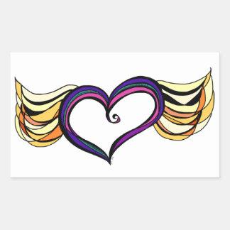 My Heart Has Wings Rectangle Sticker