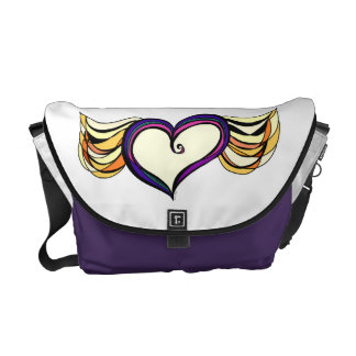 My Heart Has Wings Rickshaw Medium Zero Messenger Courier Bag