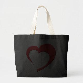 My Heart II Bag (red on dark)