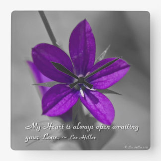 My Heart is always open... Square Wall Clock